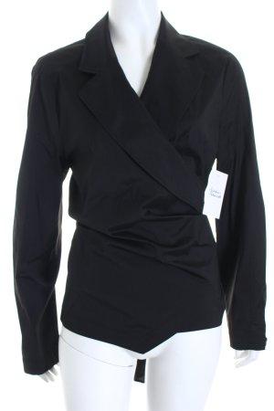 Escada Wickel-Bluse schwarz Eleganz-Look