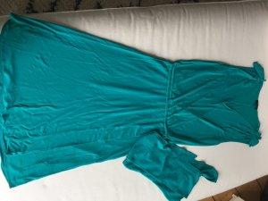Escada Robe portefeuille turquoise-bleu cadet viscose