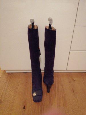 Escada Heel Boots dark violet-dark blue