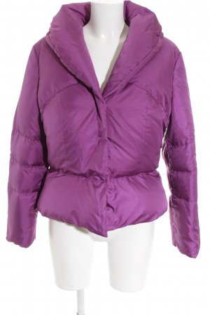 Escada Winterjacke violett Casual-Look