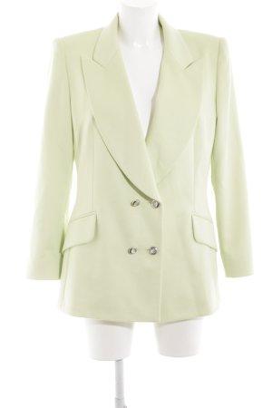 Escada Woll-Blazer grün Business-Look