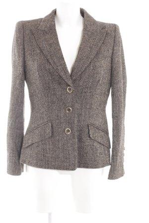Escada Woll-Blazer braun-silberfarben Allover-Druck Business-Look