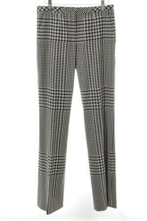 Escada Pantalon en laine blanc cassé-noir imprimé allover style extravagant