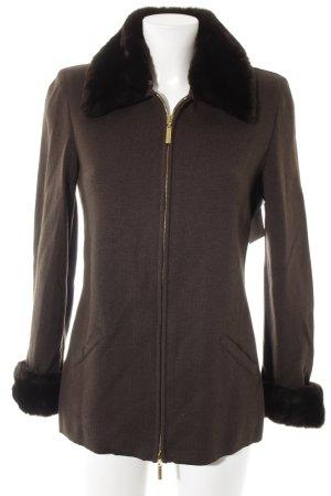 Escada Giacca di lana marrone scuro-marrone-nero stile casual