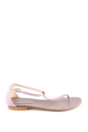 Escada Sandalo toe-post rosa stile casual