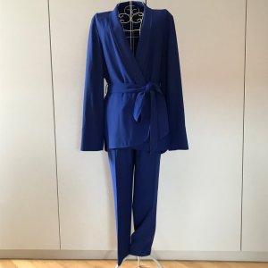 Escada Tailleur pantalone blu Tessuto misto