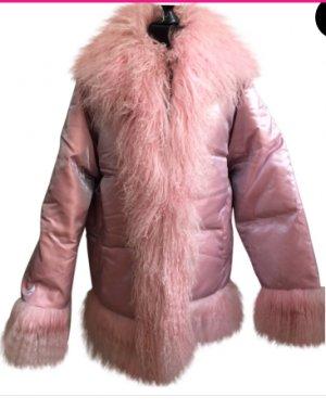 ESCDA Daunenjacke Pink mit tibetanischen Fell