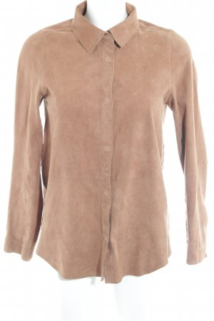 Ese O Ese Leather Shirt light brown casual look