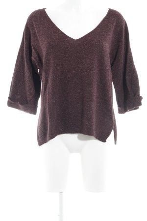 Ese O Ese V-Ausschnitt-Pullover meliert Casual-Look