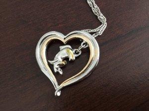 Esel in Herzkette 925 silber