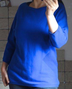 Esisto Pulli Fledermausärmel royalblau, wunderschönes Material 100% Baumwolle, weich, hochwertig, Turek – NP 99,- NEU, ungetragen, Gr. M