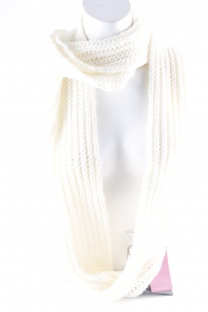 ESISTO Tube Scarf cream-natural white weave pattern casual look