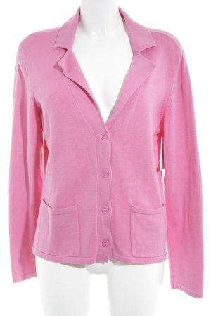 ESISTO Strick Cardigan pink klassischer Stil