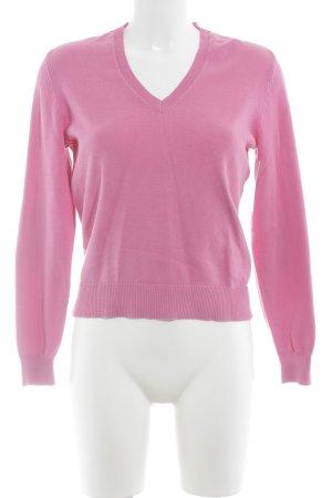 ESISTO V-Ausschnitt-Pullover pink Casual-Look