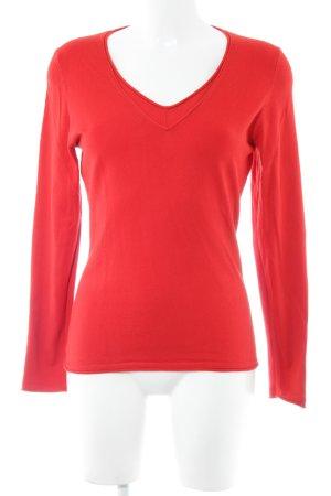 ESISTO V-Ausschnitt-Pullover rot Casual-Look