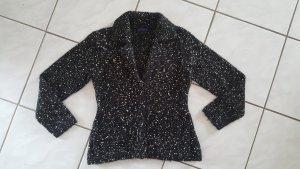 ESISTO Coarse Knitted Jacket black-white mixture fibre