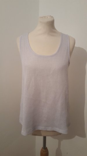 Esmara Blusenshirt mit Chiffon weiß grau Größe 36/38