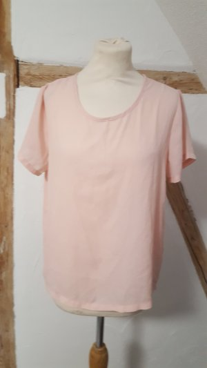 Esmara Chiffon Shirt rosefarben Größe 38 Bluse transparent