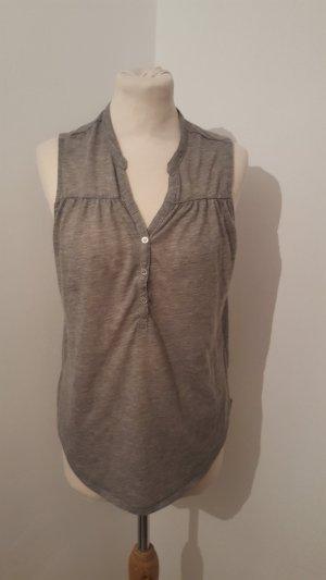 Esmara Damen Blusenshirt Größe 40 hellgrau Shirt mit Knöpfen