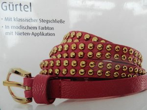 Esmara Studded Belt pink imitation leather