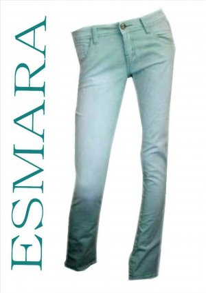 Esmara Jeans Gr. 38 Hose Pastell Grün Röhrenjeans