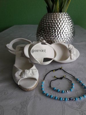 Esmara Wedge Sandals white textile fiber