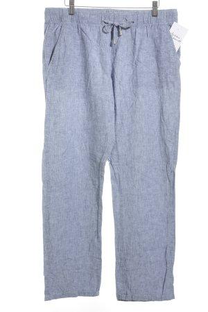 Esmara Leinenhose himmelblau-stahlblau meliert klassischer Stil