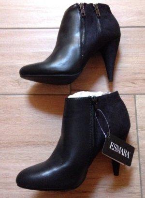 Esmara Stiefeletten Größe 40 schwarz Absatz