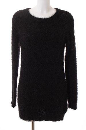 Esmara Strickkleid schwarz Kuschel-Optik