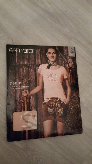Esmara T-Shirt Oktoberfest Trachten mit Pailetten Größe S rosa