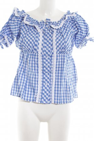 Esmara Traditional Blouse blue-white check pattern casual look