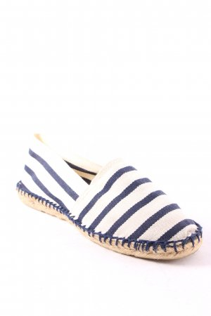 Espadrij Espadrilles-Sandalen dunkelblau-weiß Streifenmuster Casual-Look