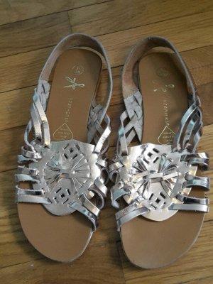 espadrillas Primark gold sandalen