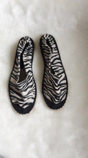 espadrille in zebra look