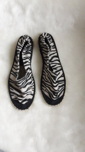 espadrille in zebra look