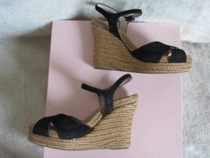 Wedge Sandals black-light brown suede