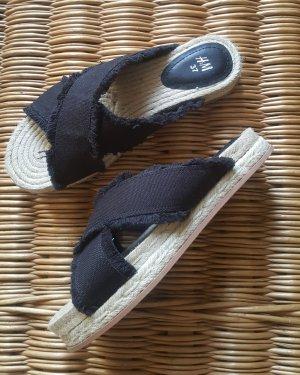 HM Espadrille Sandals black cotton