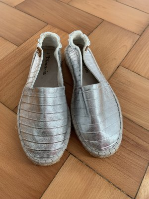 Tamaris Mules silver-colored