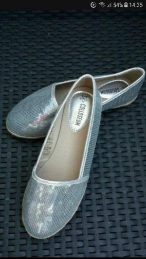 Colloseum Espadrille Sandals silver-colored