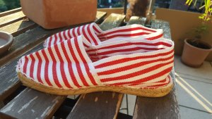 Espadrille Sandals white-red