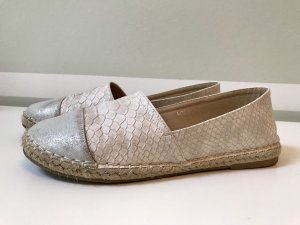 Espadrille Sandals cream-silver-colored