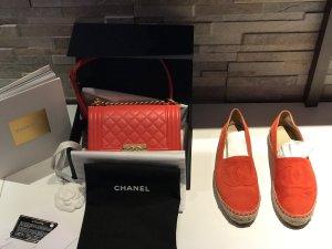 Espadrilles Chanel 39 rot Organe super Zustand