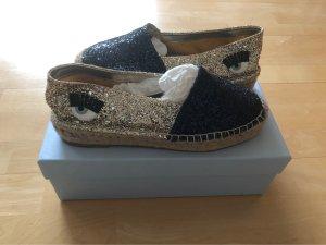 Chiara Ferragni Espadrille Sandals gold-colored-dark blue