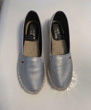 Tommy Jeans Pantoffels zilver Imitatie leer
