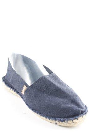 Espadrilles Espadrillas crema-blu scuro stile casual