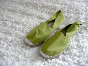 Espadrilles grün NEU