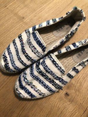 Espadrilles in blau weiß gestreift