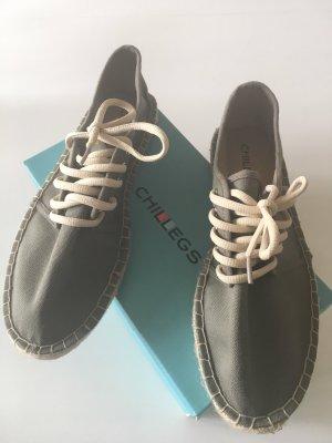 Chaussures basses beige clair-kaki tissu mixte
