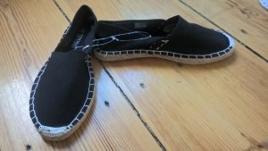 Espadrille Sandals black synthetic material