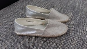Espadrilles in silber